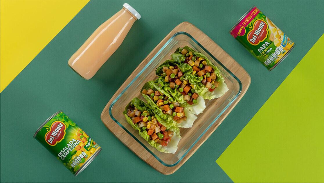 Tacos de lechuga con Del Monte®